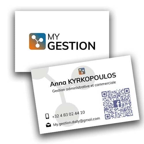 cartes de visite - My Gestion - Portfolio Espace Digital - Nicolas Masoni