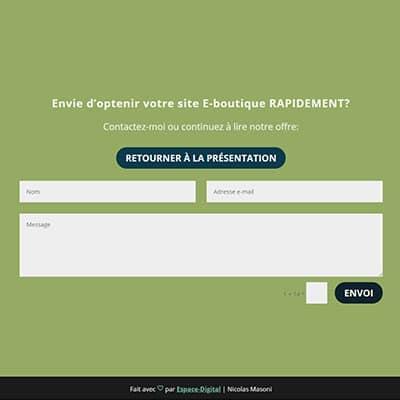 page contact de votre site internet - Nicolas Masoni - Espace Digital