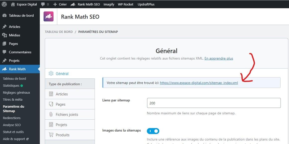 Comment référencer son site sur Google - PLugin SEO Rank Math - Sitemaps XML