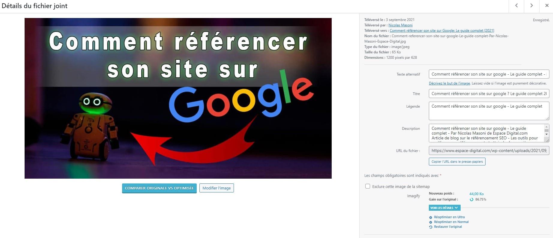 Comment référencer son site sur Google Référencer ses images - texte ALT