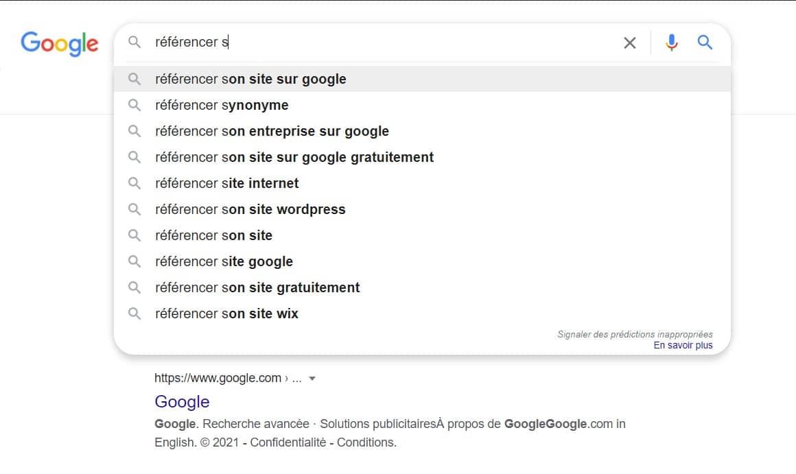 Comment référencer son site sur Google - moteur de recherche